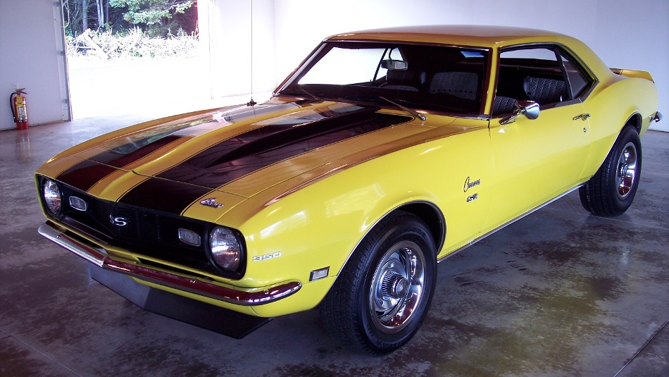 yellow 1968 camaro for sale
